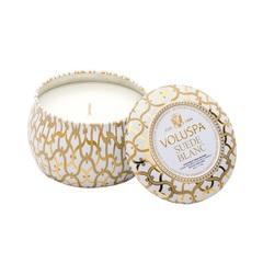 Ароматическая свеча Voluspa Белая замша в декоративной банке