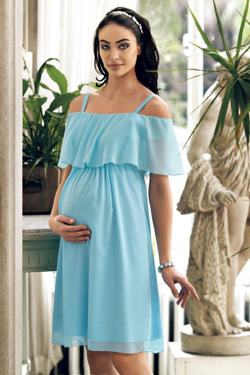 Платье 08497 голубой