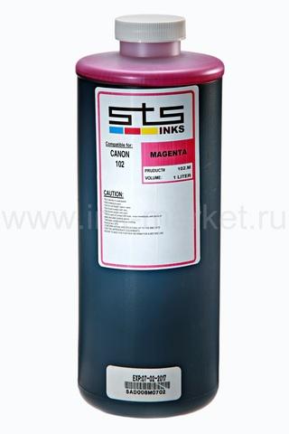 Водорастворимые чернила STS-INKS для Canon PFI-102/104/303/703, пурпурные (Magenta), 1000 мл