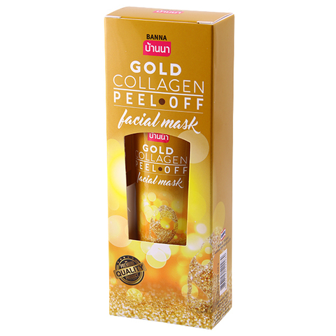 Маска пленка для лица Золотой коллаген 120мл Banna