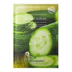 Secret Nature Cooling Cucumber Mask Sheet - Освежающая маска для лица с экстрактом огурца