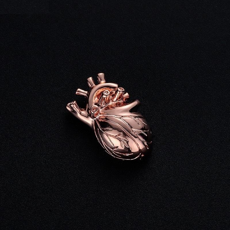 Брошь Сердце (бронзовый цвет)