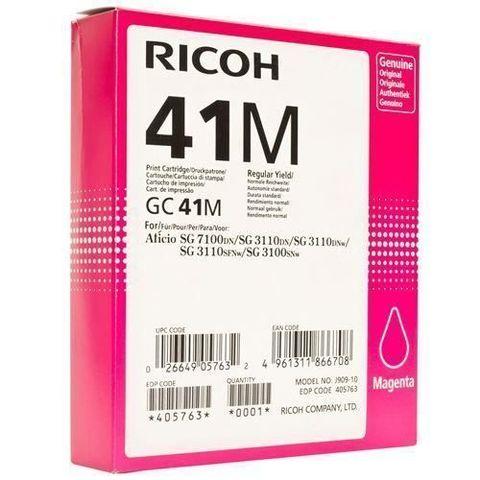 LE Картридж для гелевого принтера большой емкости GC41M пурпурный для Ricoh Aficio 3110DN/DNw/SFNw/3100SNw/7100DN. Ресурс 2200 стр (405763)