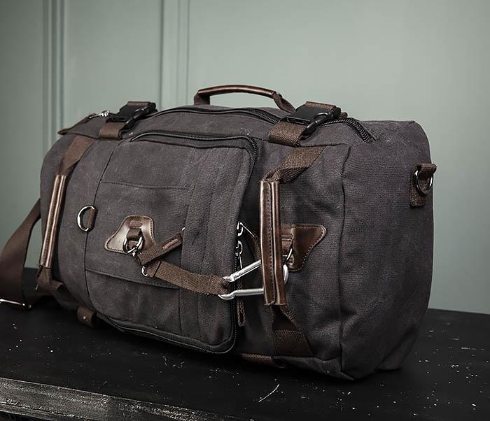 BAG479-1 Большой рюкзак трансформер из текстиля фото 07