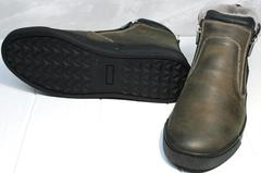 Мужские зимние ботинки на толстой подошве Rifellini Rovigo 046 Brown Black.