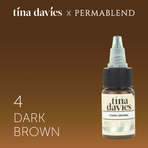 4 Dark Brown • Perma Blend • пигмент для бровей