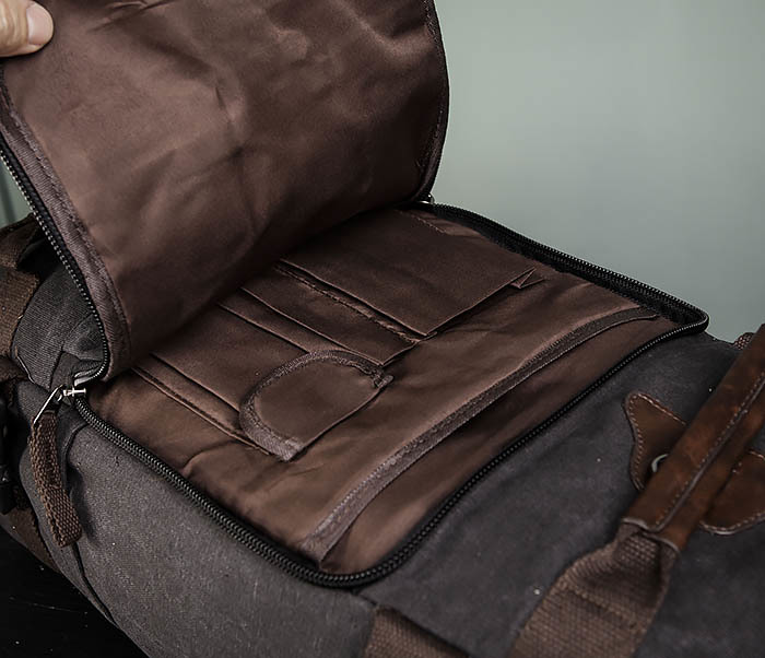 BAG479-1 Большой рюкзак трансформер из текстиля фото 10