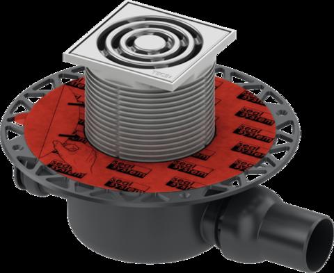 Трап дренажный TECEdrainpoint S 120, с универсальным фланцем Seal System