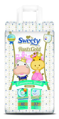 Трусики SWEETY Pantz Gold XL32 (14-18кг)