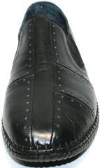 Мужские мокасины из натуральной кожи Luciano Bellini 107607 Black.
