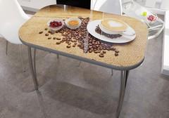 Стол со стеклом Кофе