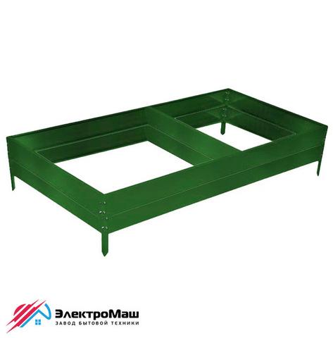 Грядка оцинкованная 4000х1000х300 мм, цвет зеленый