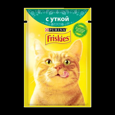 Friskies Консервы для кошек с Уткой в подливе (Пауч)