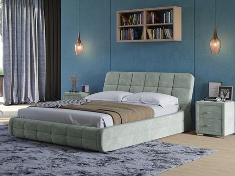 Кровать Corso 6 Экокожа: Ткань Даблиск серый
