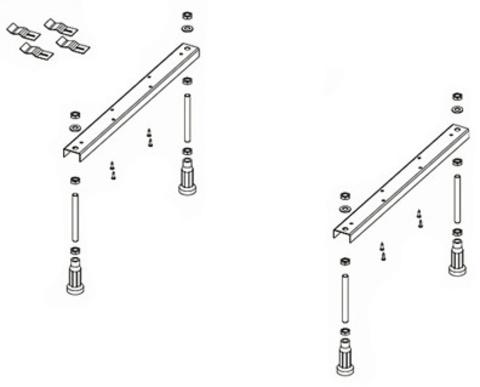 Ножки для ванны Riho POOTSET01U Universal