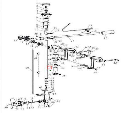 Кольцо промежуточное 28 для лодочного мотора T3,5 Sea-PRO