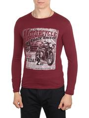 30198-3 футболка муж. с длинным рук. бордовая