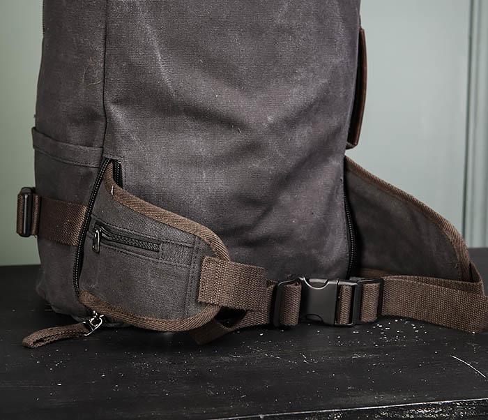 BAG479-1 Большой рюкзак трансформер из текстиля фото 15