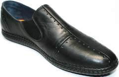 Черные кожаные мокасины Luciano Bellini 107607 Black.
