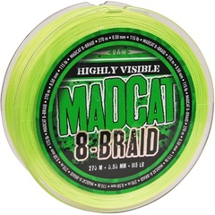 Леска плетеная MADCAT® 8-BRAID / 0.70mm / 160lb / 270m - Fluoro Green