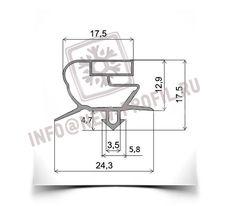 Уплотнитель 63,5*45 см  для стола охлаждаемого Modular (распашная дверь) Профиль 018