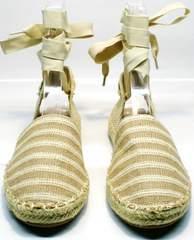 Модные эспадрильи  Small Swan OM243-4Beige