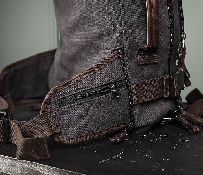 BAG479-1 Большой рюкзак трансформер из текстиля фото 16