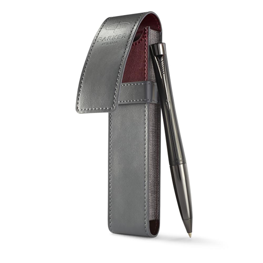 Набор подарочный Parker Urban Premium - Ebony Metal Chiselled, шариковая ручка, M + чехол