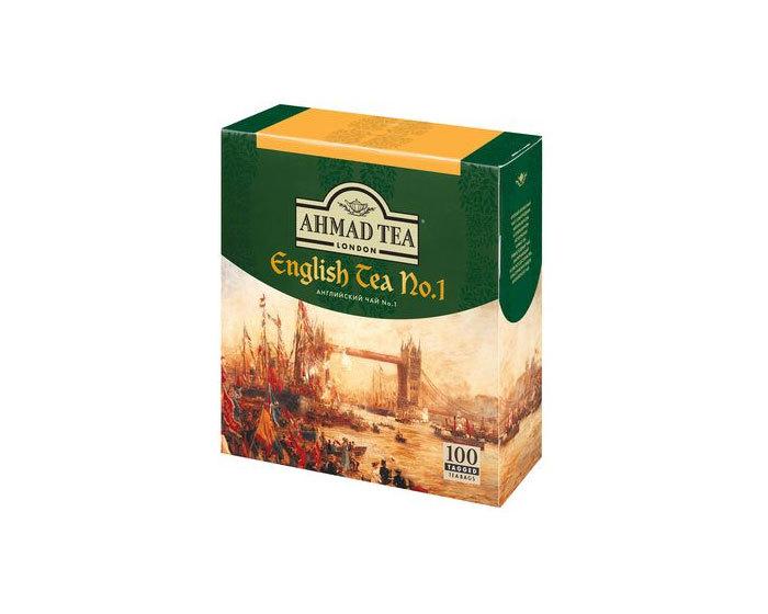 Чай черный в пакетиках Ahmad Tea English N1, 100 пак/уп (Ахмад)