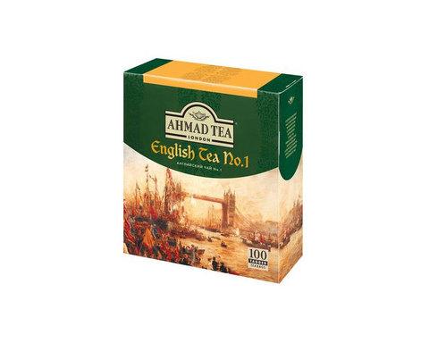 Чай черный в пакетиках Ahmad Tea English N1, 100 пак/уп