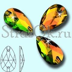 Стразы пришивные стеклянные Drope Vitrail Medium VM, Капля Витрайл Медиум ВМ многоцветный