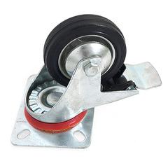 Колесо 85 мм на поворотном кронштейне с тормозом