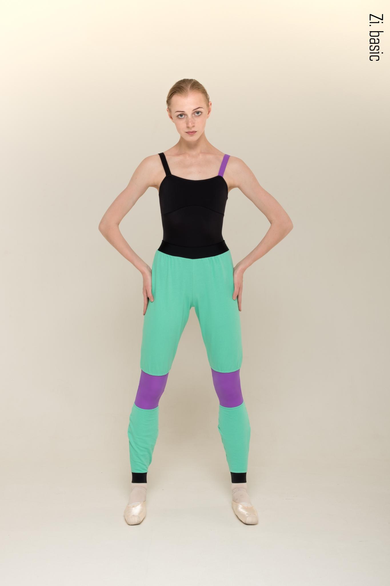 Штаны с фиолетовой коленкой