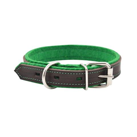 Зооэкспресс ошейник SUOMI LINE коричневый/зеленый 15мм 25-32см