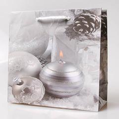 Пакет новогодний подарочный 16х16х7-1