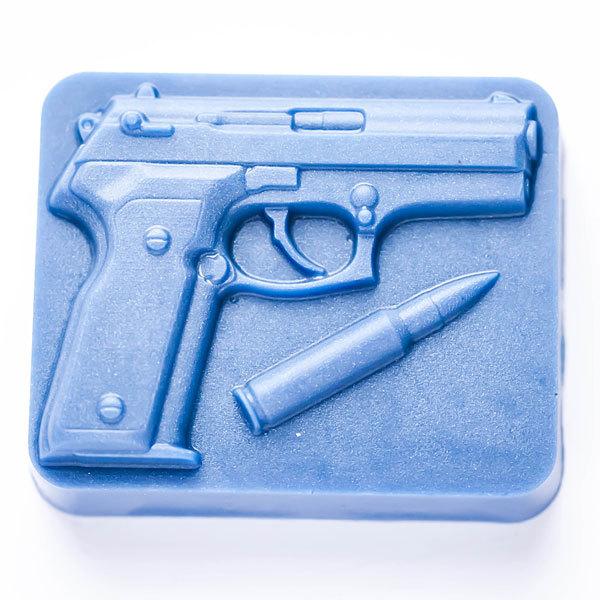 Форма для мыла Пистолет на основании