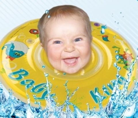 Круг на шею для плавания Baby-Krug, желтый, с 0 мес до 2 лет