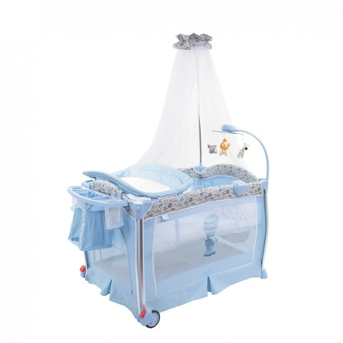 Детская кровать-манеж Nuovita Fortezza (Azzurro / Лазурный)