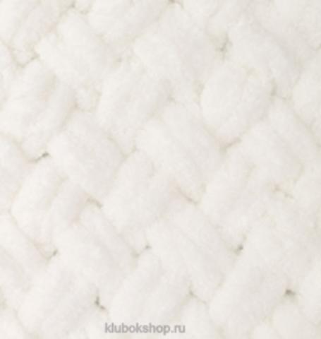 Пряжа Puffy Alize 62 Светло-молочный - толстая бархатистая пряжа для вязания руками. Купить в интернет-магазине недорого klubokshop.ru