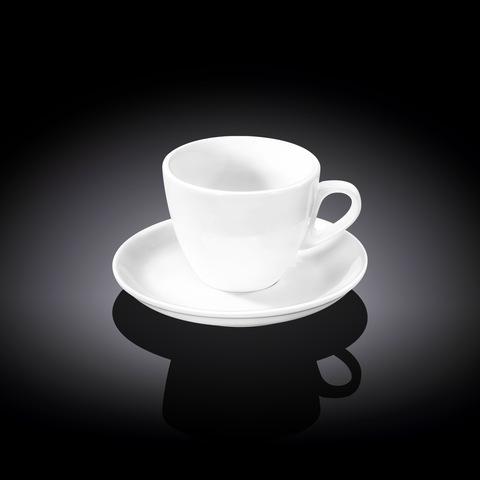 Набор кофейная чашка и блюдце Wilmax 110 мл (WL-993174)