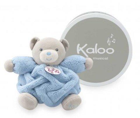 Kaloo. Мягкая игрушка Мишка музыкальный голубой (маленький размер)