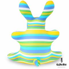 Подушка-игрушка антистресс «Зая Полосатый зеленый» 4