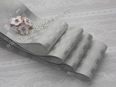 Лента атласная Шахматка серая ширина 38 мм (намотка 10 м)