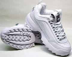 Модные зимние кроссовки Fila Disruptor II