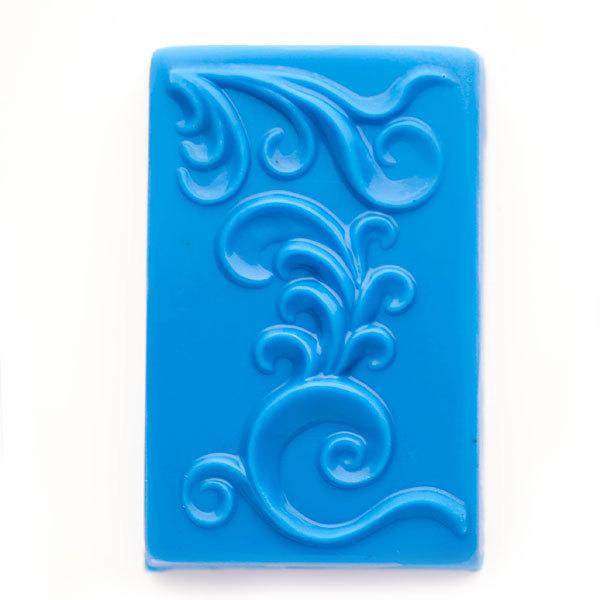 Пластиковая форма для мыла Орнамент на прямоугольнике