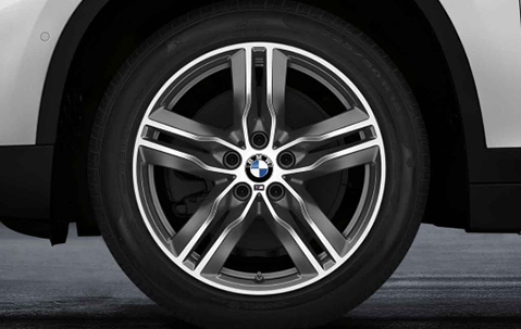 Зимнее колесо в сборе R18 Double Spoke 570M (Bridgestone Blizzak LM001 RFT (RSC) нешип) 36112409024 для BMW X1 (F48) 2015-