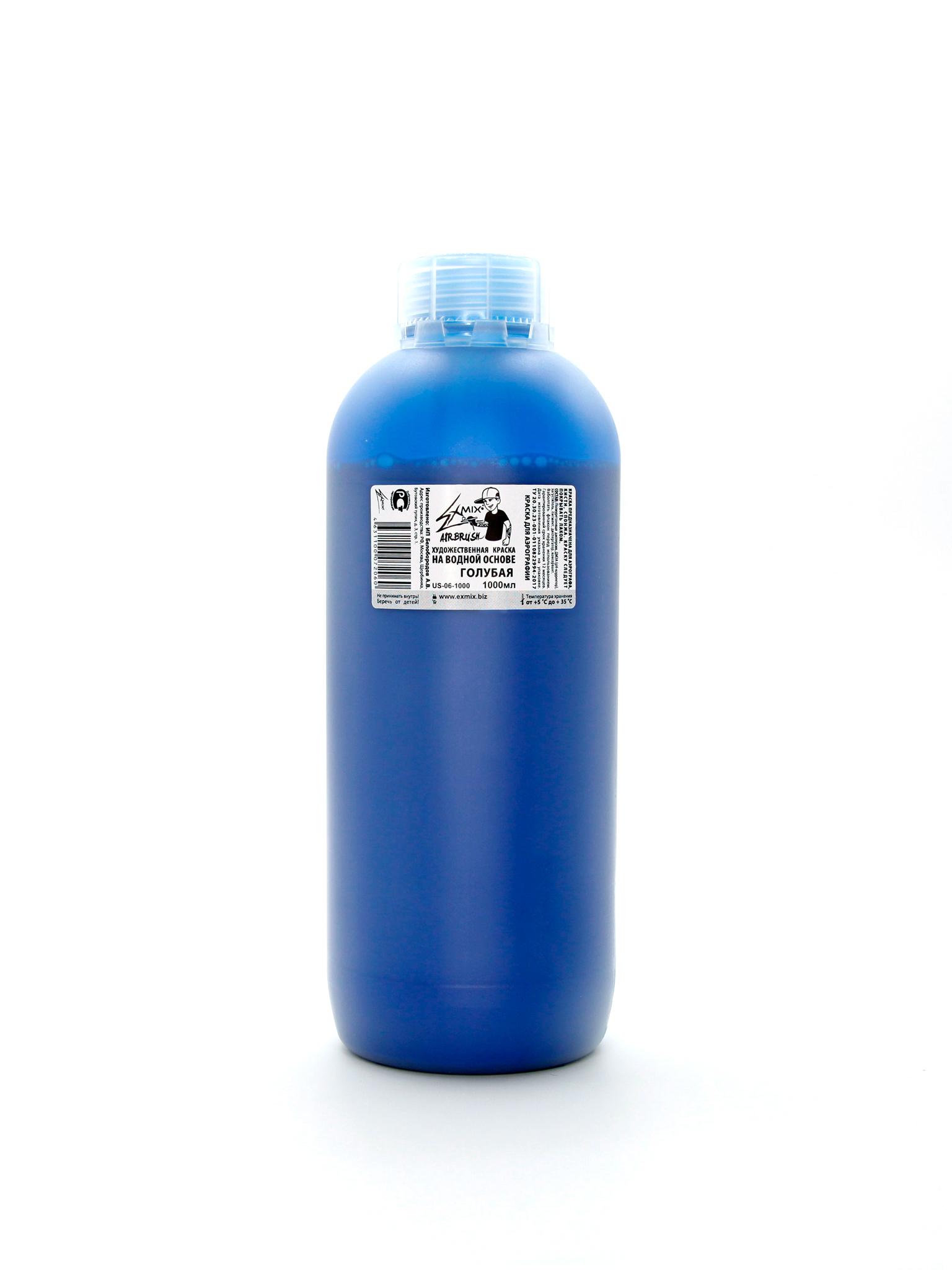 Exmix Краска укрывистая Exmix 06 Голубая 1000 мл US-06-1000.jpg