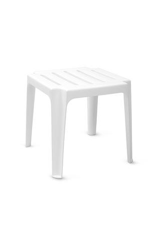Пластиковый столик к шезлонгу (белый)