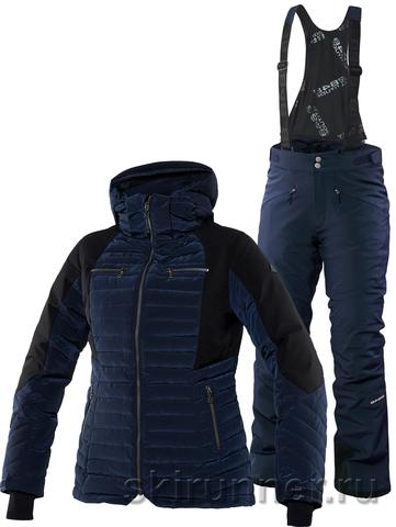 Тёплый горнолыжный костюм Charlie Poppy Navy женский