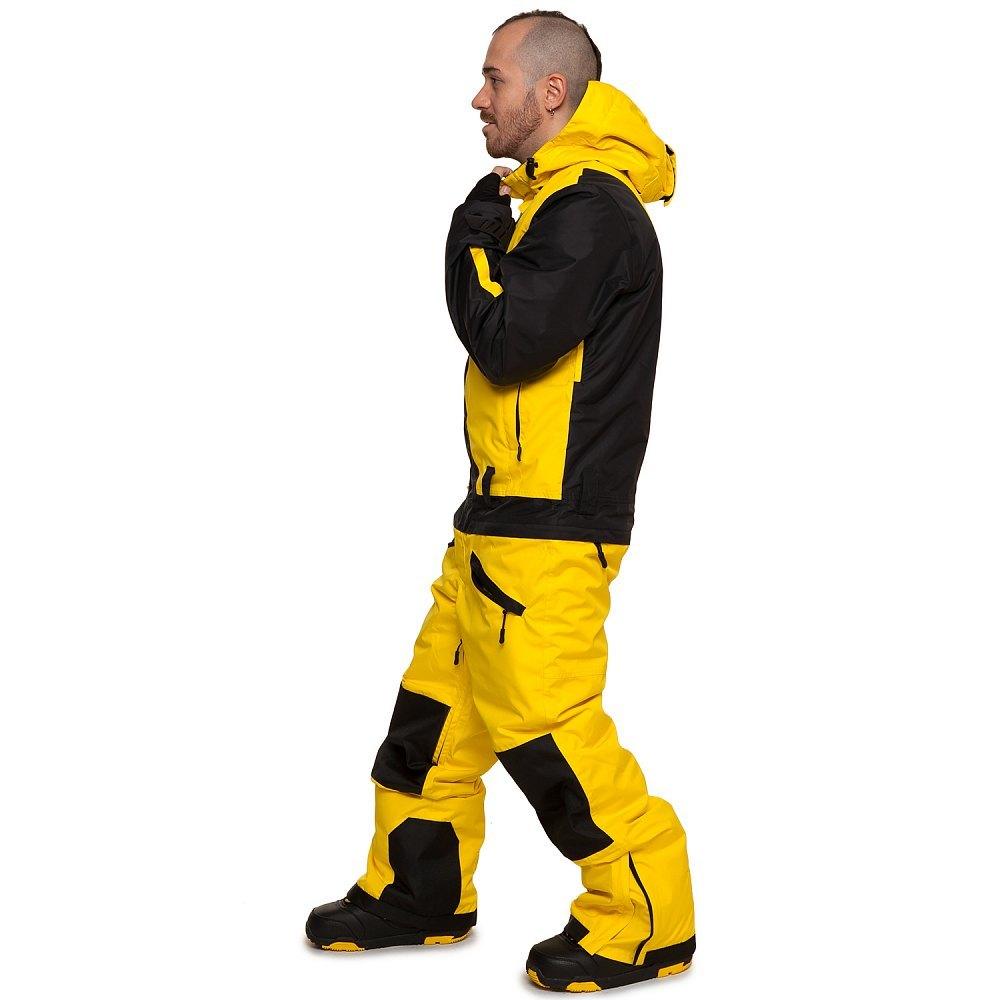 Сноубордический комбинезон COOL ZONE SNOWBOARD мужской желтый-черный 1487d170dcd